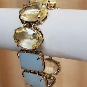 LOFT Teal Yellow Stone Bracelet #515